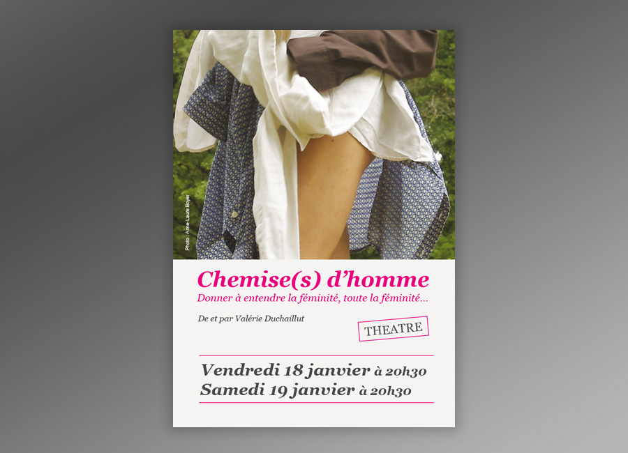 flyer chemises d'homme recto
