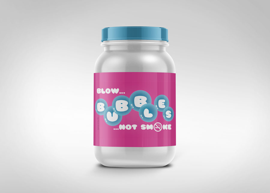 packaging blow bubbles smokefree